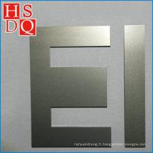 Noyau de transformateur de plastification ei en acier au silicium non orienté