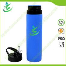600ml Silikon Foldbale Collaspsible Wasserflasche, Soft Silikon Flasche