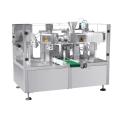 Machine à emballer rotative avec peseuse à vis pour poudre
