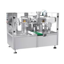 Máquina de embalagem rotativa com balança de parafuso para pó