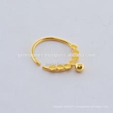 Bijoux ethniques à anneaux de noix de Septum Créé à la main Septum Designer Nose Ring Fabricant de bijoux en cuir