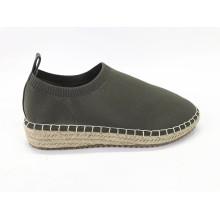 Damen Slip On Stoff Jute Espadrilles Sneaker