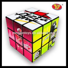 Los juguetes educativos de los niños personalizaron los regalos promocionales del cubo cuadrado mágico
