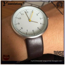 Yxl-531 Hot-Fashion Mimimalist Sunray Face Concise Style Leather Watch, Gold-Plated Case waterproof Quartz Watch, Thin Strap Vogue Watch
