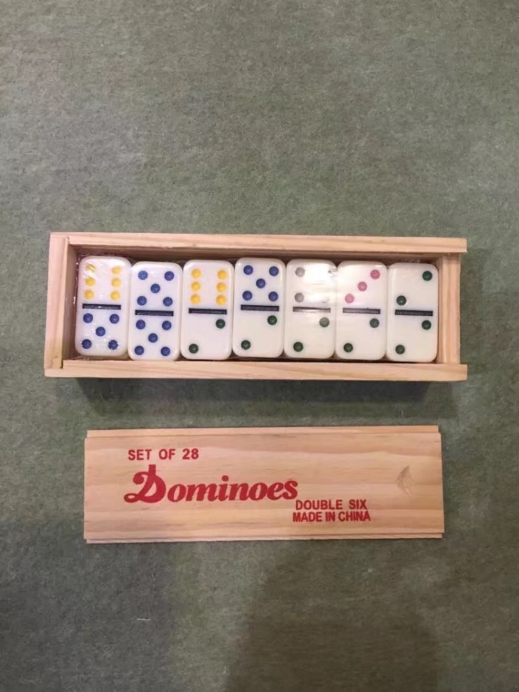 Baby Mini Dominoes Set in Wooden Box