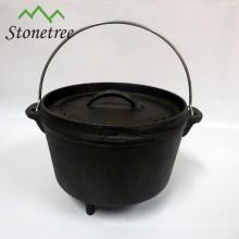horno holandés de hierro fundido de barbacoa