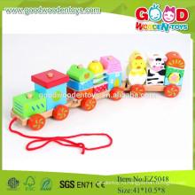 2015 Новый предмет Горячий продавать комплект деревянных автомобилей Красочные выталкивающие игрушки для малышей