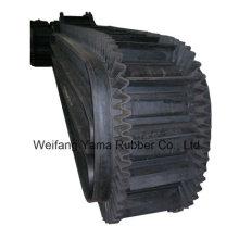 Нейлоновый резиновый конвейерный ремень с гофрами для кокса и цементных заводов