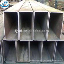 Tube en acier creux carré rectangulaire de faible teneur en carbone ms / tube en acier de ms