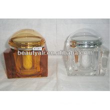 200ml Square Luxury Cosmetic Packaging Acrylic Jar With Lid