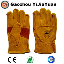 Cow Grain Leather Labor Industrial Safety Driving Work Gloves