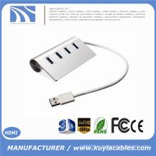 Brand New Super Speed 4 puertos USB 3.0 premium aluminio eje para iMac MacBook PC tableta