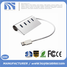 Brand New Super Speed ​​4 portas USB 3.0 premium alumínio Hub para iMac MacBook PC tablet