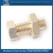 M10X25 Silver Coated Brass Hexagon Bolt Nut