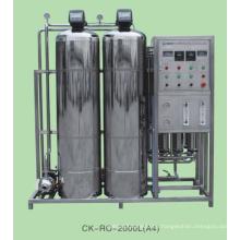 Planta de filtro de agua comercial con sistema RO RO 2000L / H acero inoxidable / FRP
