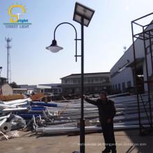 Material do abajur do vidro temperado e fonte de energia solar luz de rua solar exterior do diodo emissor de luz