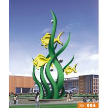 Modern Grand Famous Arts Résumé Sculpture en fontaine en acier inoxydable pour décoration de jardin