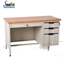 Bureau d'ordinateur de coin mobile 3 tiroirs bureau bureau de jeu de bureau supérieur