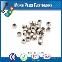 Fabriqué en Taiwan M16-2.0 DIN 985 Grade A2 en acier inoxydable Nylon Insert Lock Nut