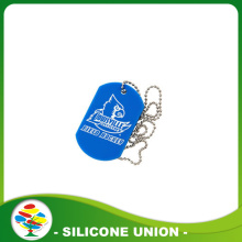 Customized Bule Silicone Dog Tag Untuk promosi