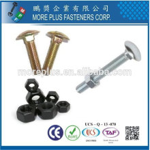 Taiwan bolt and nut DIN555 Hex Nuts DIN603 Mushroom Head Square Neck Bolts