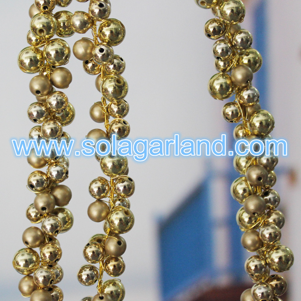 Gold Beaded Branch For Xmas Decor