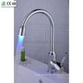 Self-Power Temperature Sensor 3 Color LED Kitchen Sink Mixer Faucet