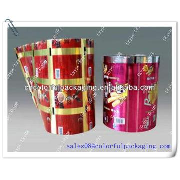 Food packaging laminated plastic roll film/Customoized printed aluminum foil roll film for packaging sugar