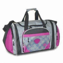 Travel Bags, Various Sizes and Patterns are Available, Comes in Gray and Pink
