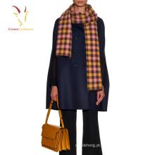 Lady tricotar cachecol de lã mulheres grosso inverno cachecol venda quente xale 2016