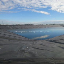 Rough Surface Pond Liner HDPE Geomembran mit schwarzer Rolle
