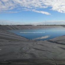 Revestimiento de estanque de superficie rugosa HDPE Geomembrana de rollo negro