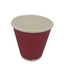 Disposable Ripple Paper Cup for Coffee and Tea