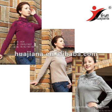 2016 fashion women's cashmere thick sweater
