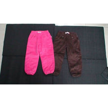 Colorful Boutique Childrens Clothing Girl's Corduroy Trousers With Side Belt Pocket