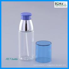 Bouteille cosmétique claire de bouteille de lotion d'animal familier de 50ml