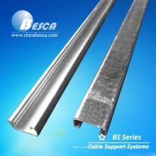 Canal y accesorios de puntal macizo de acero pregalvanizado