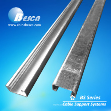 Profilé d'entretoise en acier pré-galvanisé et accessoires