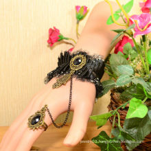 Facotry charms cloth accesseries wholesale FC-06 Black dimamond silicone rubber bracelet