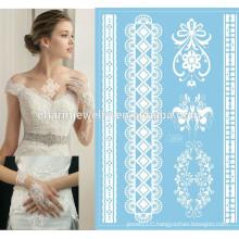 wholesales white fashion modeling lace jewelry tattoo j004