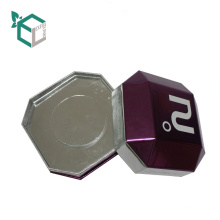 China Suppliers Custom Logo Purple Holographic Foil Stamping Paperboard Special Shape Watch Packaging Containers