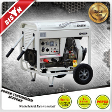 BISON CHINA TaiZhou 3 fase 5kw portátil de arranque eléctrico de la máquina de soldadura del motor diesel