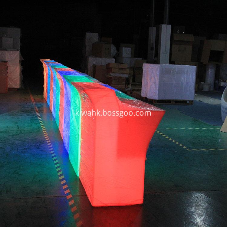 Indoor Led Furniture Bar Table