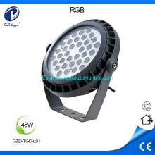 48W high power round aluminum led flood light