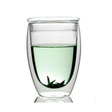 Egg-Shaped 350ml Glass Tea Cup with Lid (XLSC-001G 350ml)