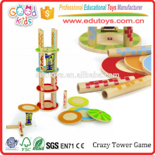Crazy Tower Unique Kids Stacking Toys, Renewable Bamboo Child Stacking Toys