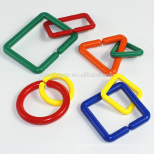 EN71 Seguro Brinquedo Do Miúdo De Plástico para Artesanato, Geometria Enigma Links / Correntes, Anéis de conexão