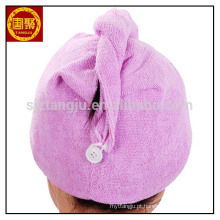 China toalhas de turbante por atacado envoltório, turbante mágico, 100% algodão toalha de turbante de cabelo