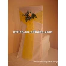 Housses polyester avec ceinture d'organza