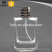 perfume de botella de vidrio pulido vacío 100ml
